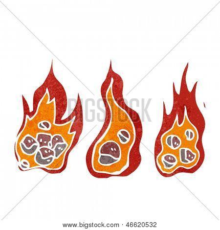 flaming meteors retro cartoon