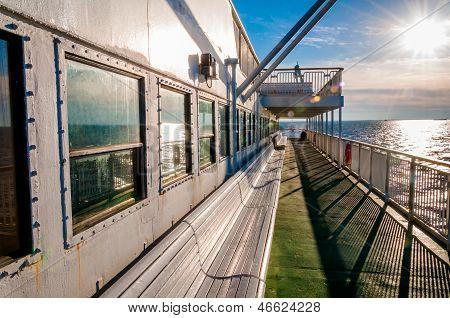 A bordo do cabo maio - lewes Ferry, na Baía de Delaware entre New Jersey e Delaware.