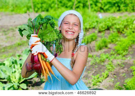Gardening girl