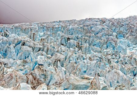 Blue Ice At A Glacial Ice Fall
