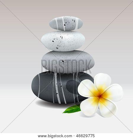 Spa-Stillleben mit Frangipani Blume
