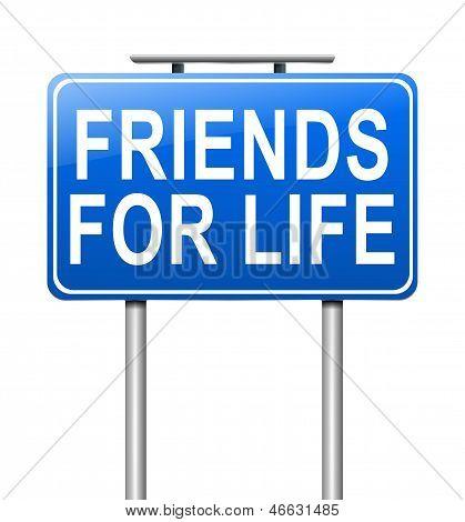 Concepto de amigos.