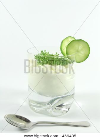 Yogurt With Cucumber And Watercress
