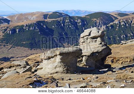 Babele Rocks On Bucegi Mountains In Romania