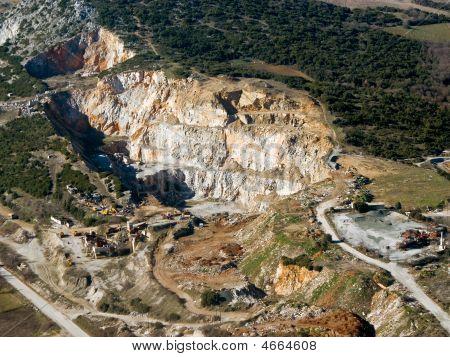 Abandoned Stone Quarry, Aerial