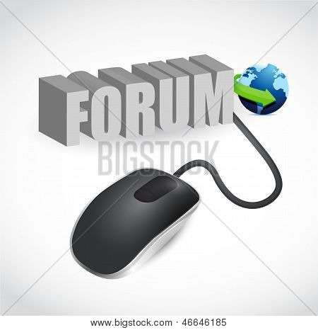 Mouse Connected To The Grey Word Forum
