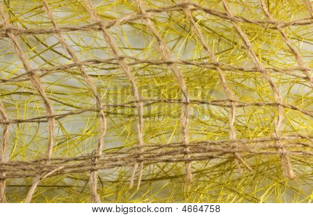 Texture From Threads Of A Sackcloth And Synthetic Fibres 2