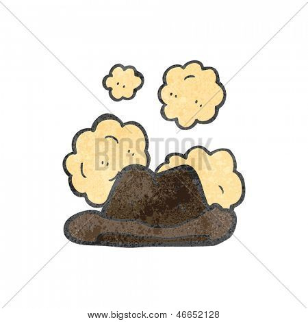 retro cartoon dusty old hat