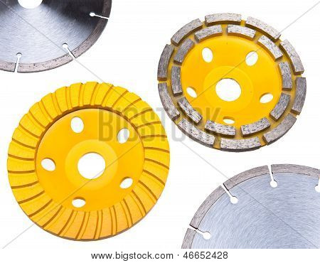 Diamond disks for tile and for concrete cutting and abrasion