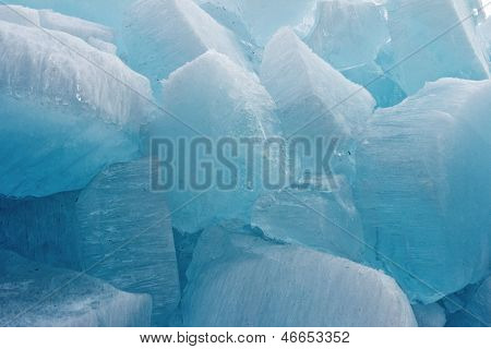 Ice Blocks From Fresh Water For Fine Background