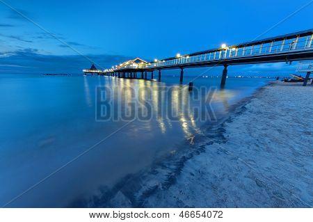 Pier at the Baltic Sea at dawn