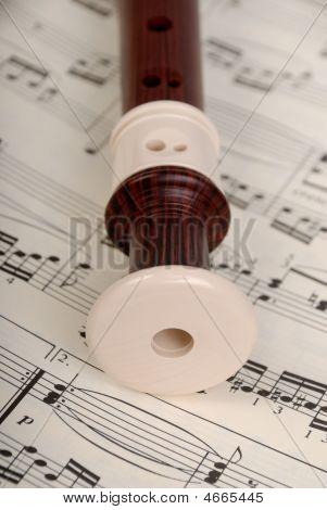 Flöte und Notizen