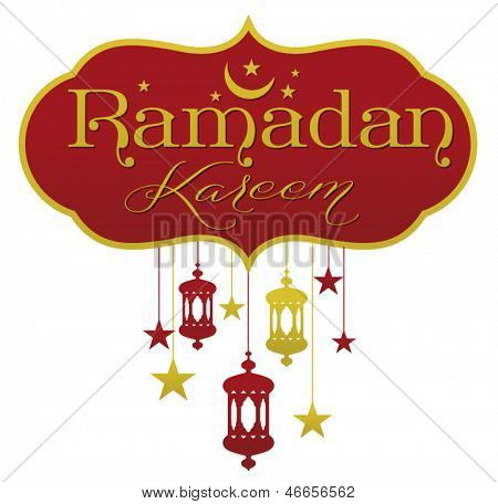 Ramadan greetings in english script.