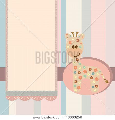 Baby Giraffe Label