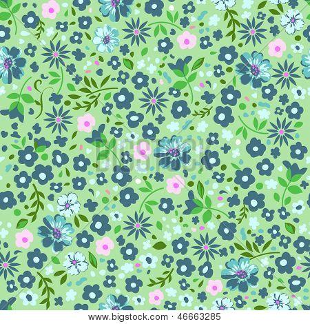 pretty ditsy green seamless background