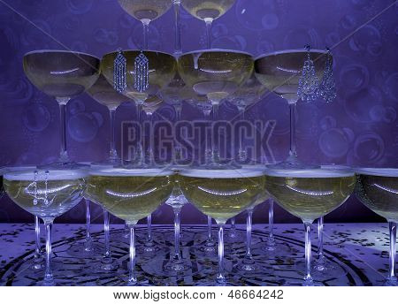 Champagne Glasses with Jewelry