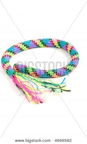 The Beautiful String Weaved From Beautiful Multi-coloured Threads.