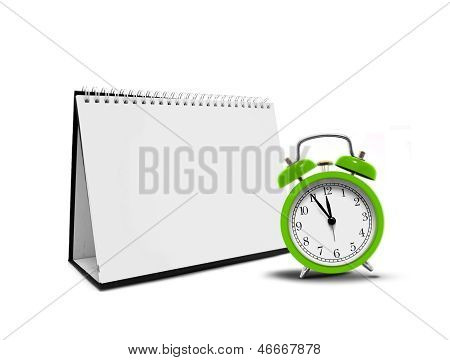 Alarm clock and desktop calender