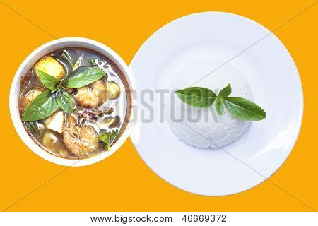 Tom Yum Goong Or Spicy Shrimp