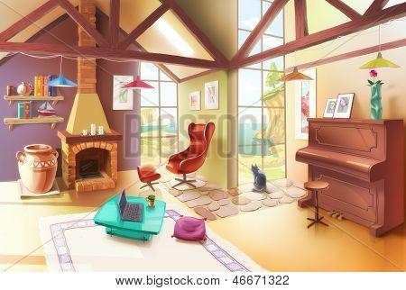 Light Living Room Interior