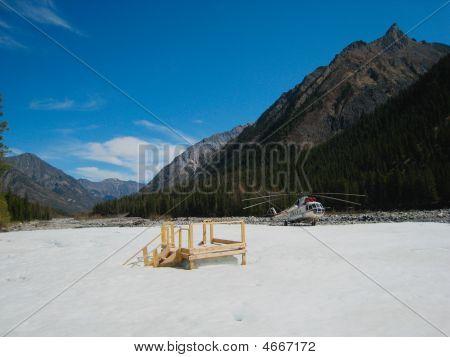 Iced River At Shumak