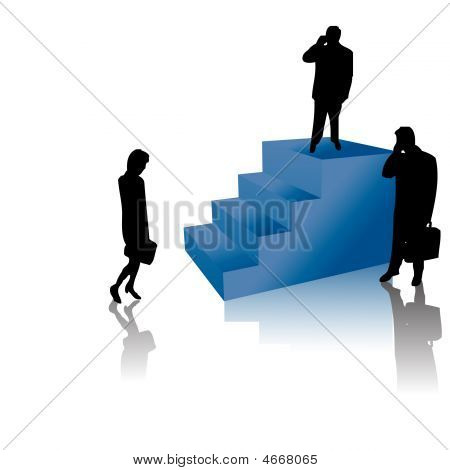 Successful Business People On Stairs
