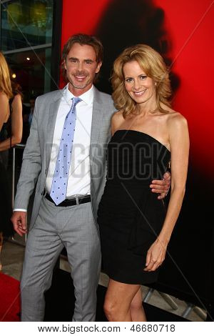 LOS ANGELES - JUN 11:  Sam Trammell, Missy Yager arrive at the