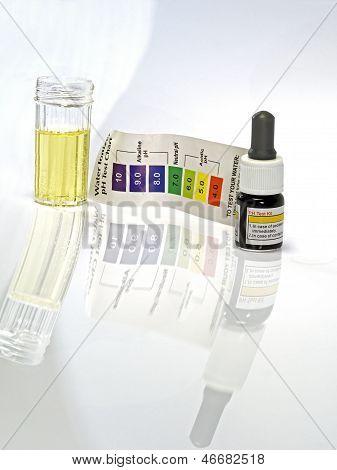 Reagente de ph ácido água ácida teste