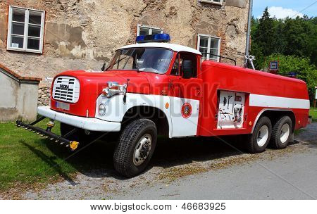 SVATY JAN POD SKALOU, CZECH REPUBLIC - JUNE 9: Historic czech firetruck CAS 32 - T 148 from 1961 year. Most popular czech firefighter vehicle on June 9, 2013 in Svaty Jan pod Skalou, Czech Republic.