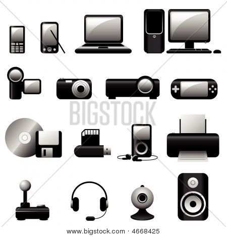 Multimedia Vector Icons Black