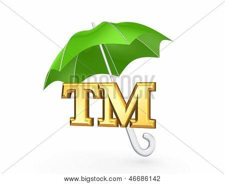 TM symbol under green umbrella.