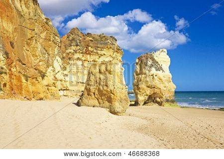 Praia da Rocha in the Algarve Portugal