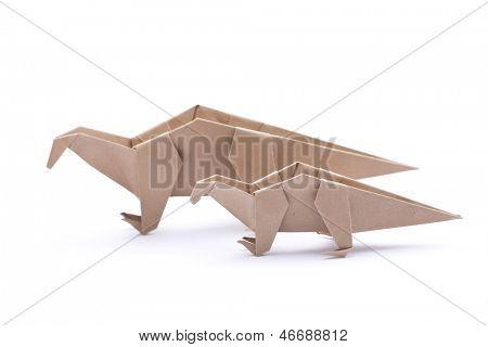 Dinosaurio de origami