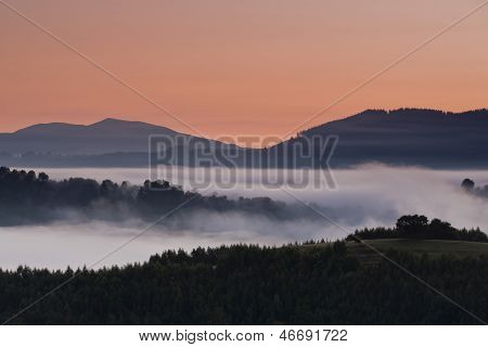 Foggy Mountain Landscape