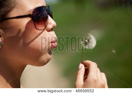 Girl And Dandelion