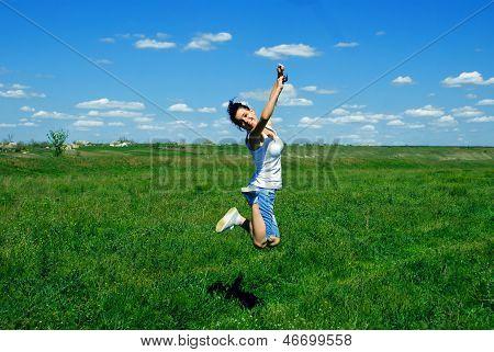 Mädchen springen