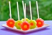 Fruit Pops Of Melon And Watermelon