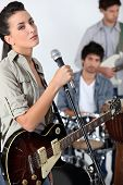 picture of foursome  - Female singer in a band - JPG