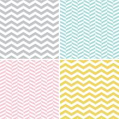 stock photo of zigzag  - Set of seamless zigzag  - JPG