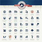stock photo of marketing plan  - Set of vector icons for internet marketing and services - JPG