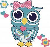 cute owl applique for baby girl