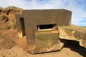 stock photo of emplacements  - ruins of world war 2 gun emplacement - JPG