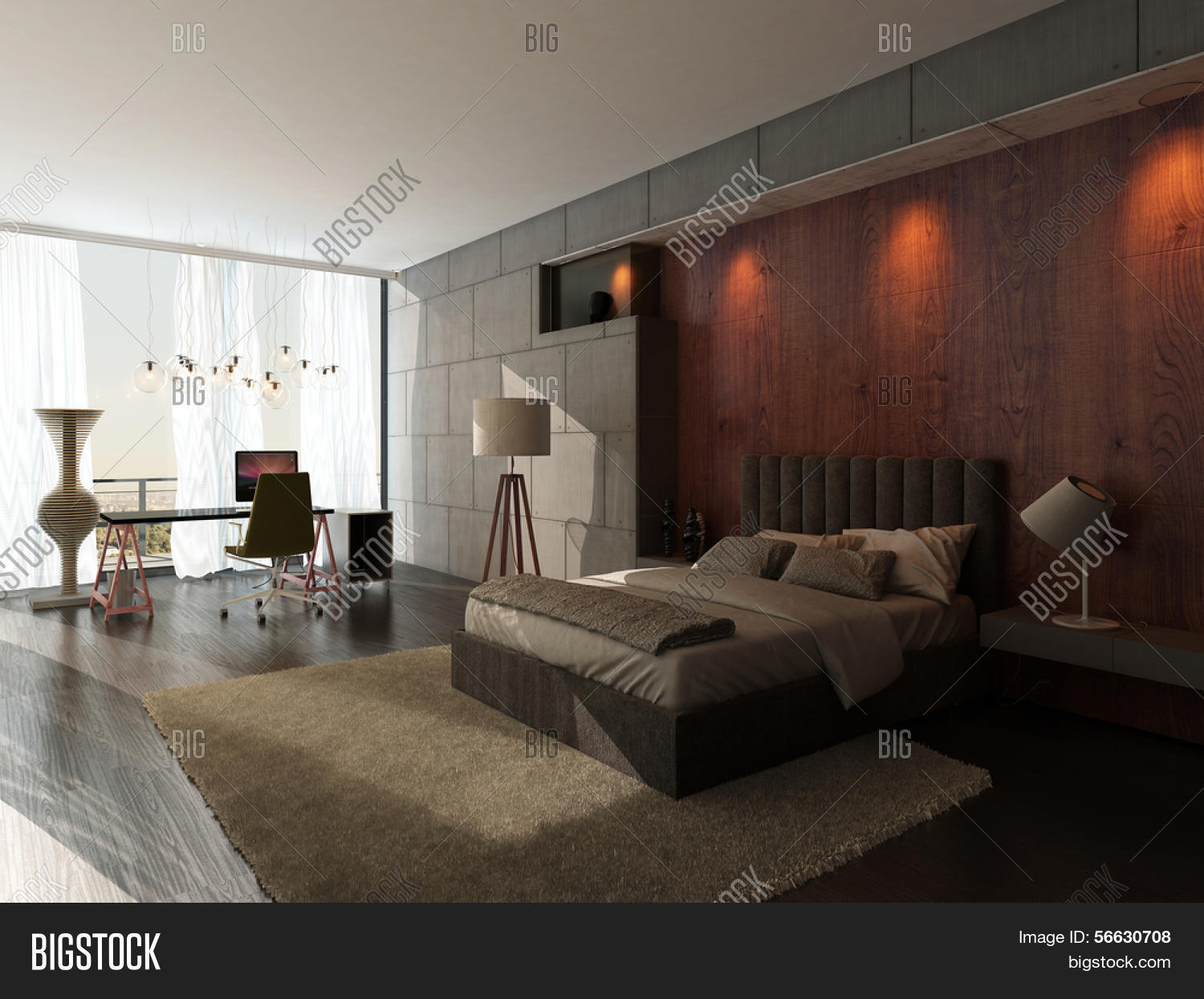 Modern Design Bedroom Interior King Image Photo Bigstock