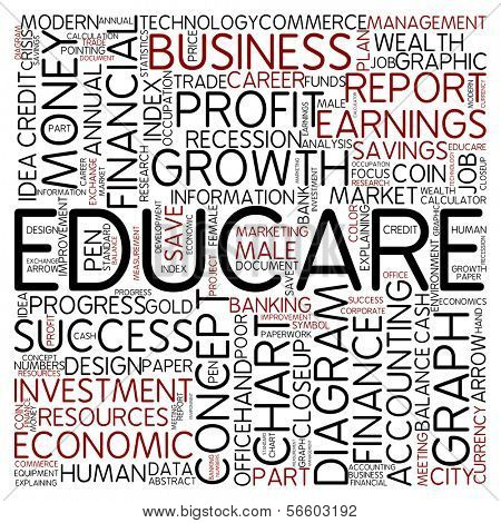 Word cloud - educare