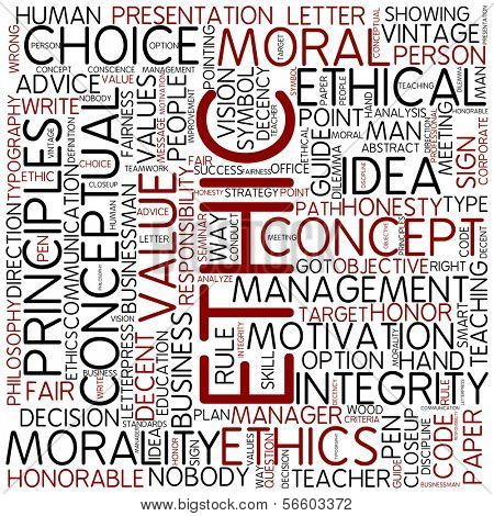 Word cloud - ethic