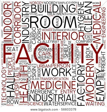 Word cloud - facility