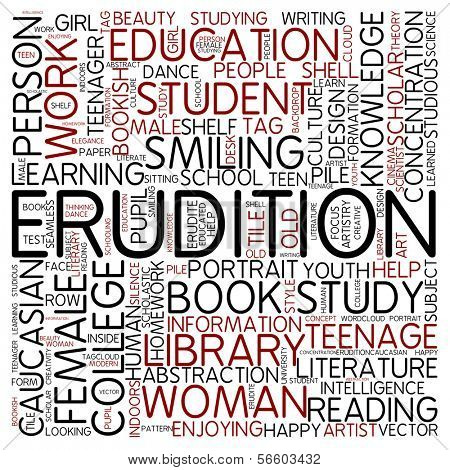 Word cloud - erudition