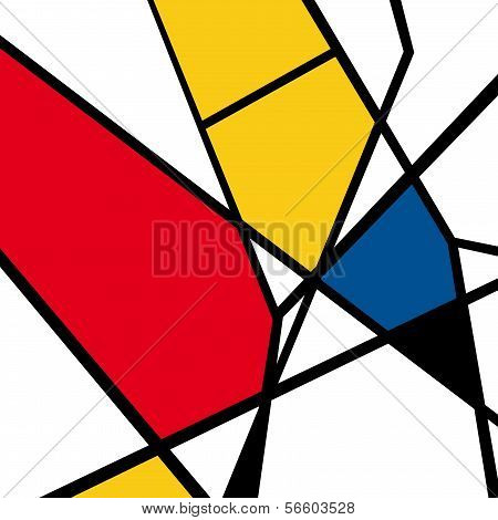 Abstract geometric colorful vector pattern, geometric art, color doodles