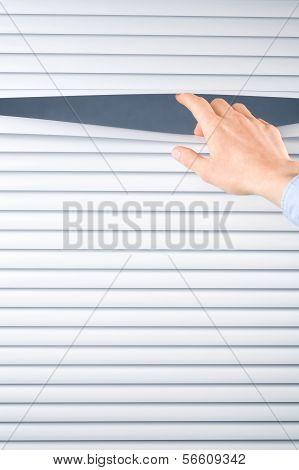 Hand Opening Venetian Blinds