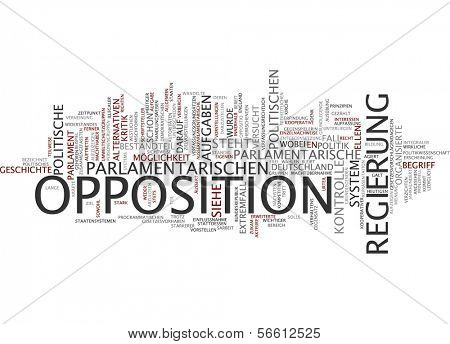 Word Cloud - Opposition